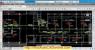 Ứng dụng AutoCAD vẽ trong hệ thống điều hòa không khí