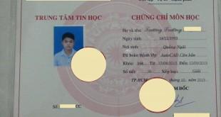 Chưng chỉ AutoCAD căn bản của bạn Trương Trường ...
