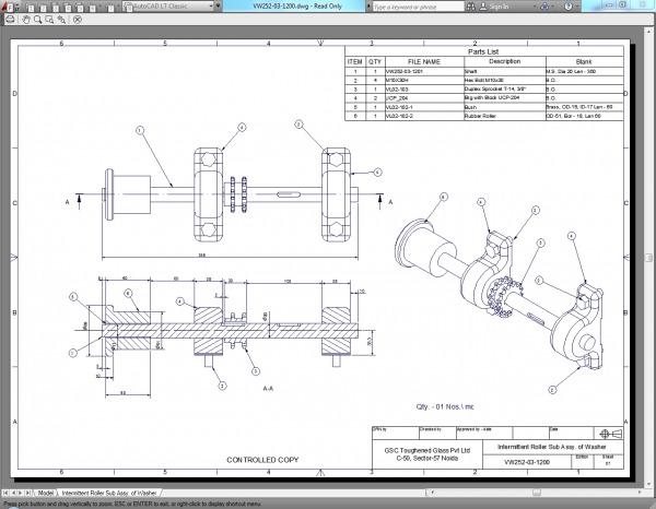 AutoCAD dùng trong thể hiện bản vẽ kỹ thuật ngành cơ khí
