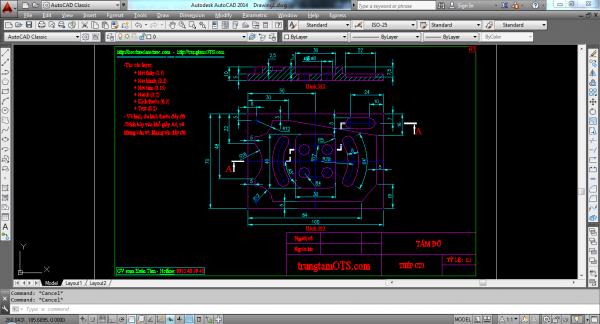 AutoCAD ứng dụng thiết kế trong cơ khí chế tạo
