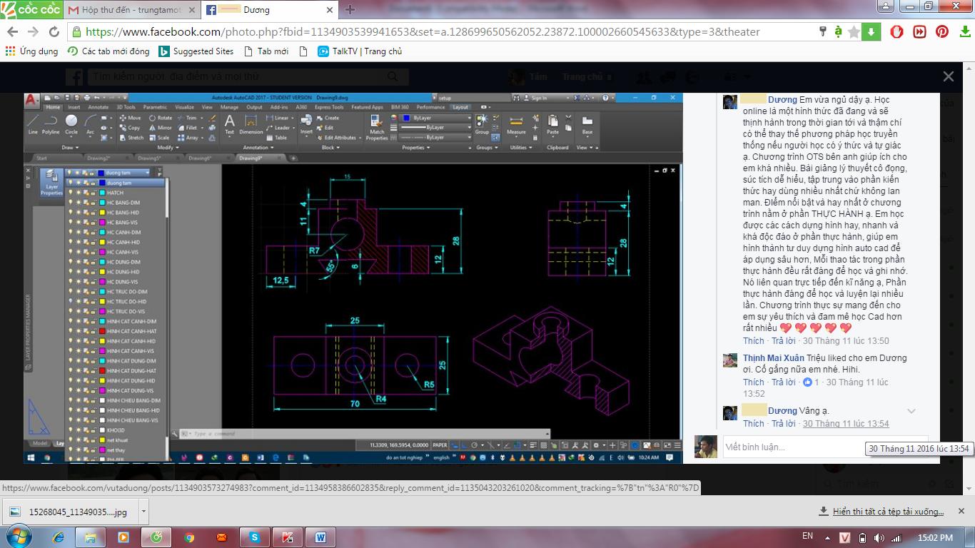 Cảm nhận của học viên Vũ Tá Dương sau khi tham gia khóa học AutoCAD 3D ứng dụng