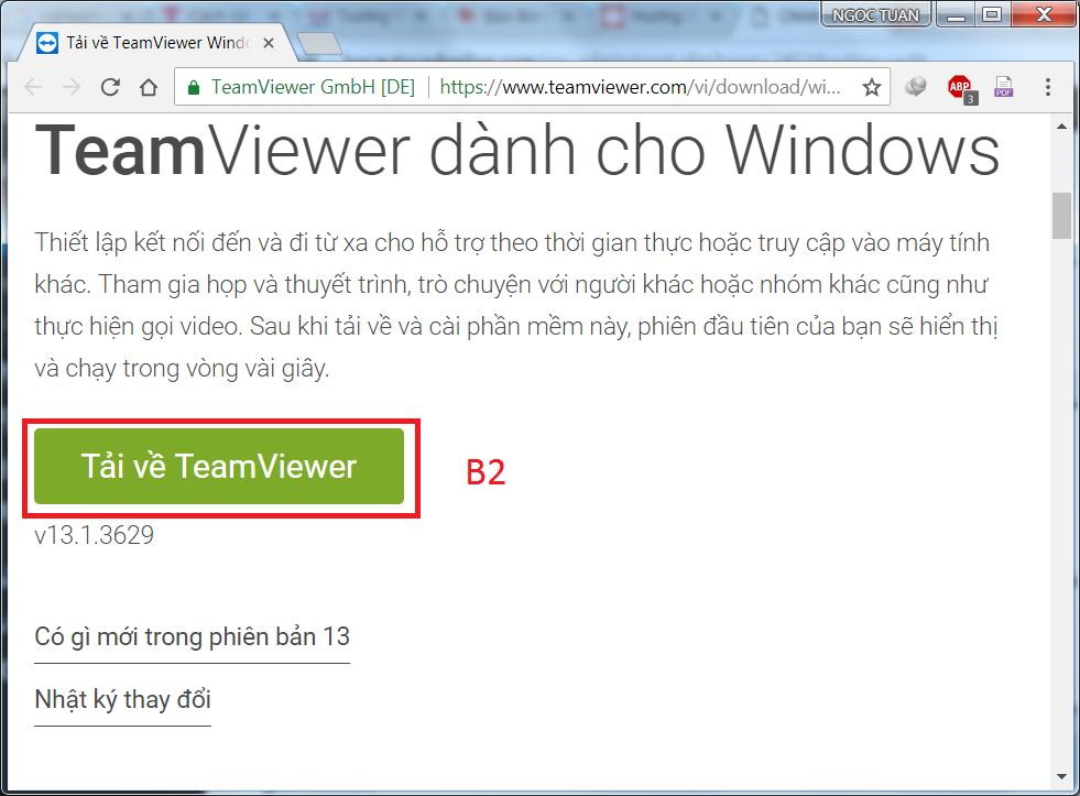 Hướng dẫn TẢI và CÀI ĐẶT TeamViewer phục vụ trong việc hỗ